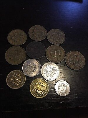 Mixed lot of Coins From Jamaica See Pictures