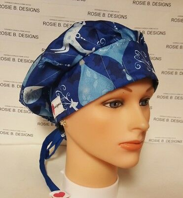 Silk  Christmas  Ornaments / Bouffant Style / Scrub Surgical / Cap /ponytail