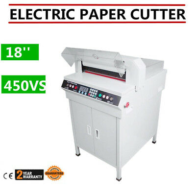 "18"" Guillotine Cutting Machine Office Electric Stack Paper Cutter Heavy Duty USA"