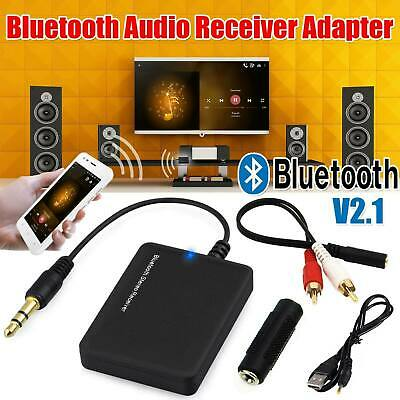 Wireless Bluetooth Audio Stereo Music Receiver 3.5mm Car Aux Adapter For Speaker