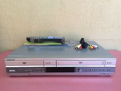 Serviced Sony SLV-D985 Combo VCR DVD player + Video Recorder + Remote + RCA VHS