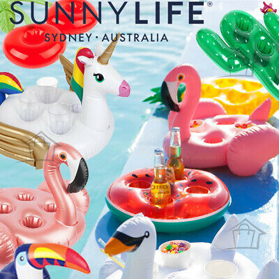 NEW SunnyLife 2017 + 2018 Inflatable Drink Holder Swimming Pool Drinks Float