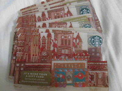 "Lot Of 20 2017 Starbucks Christmas ""store Front"" Gift Card"