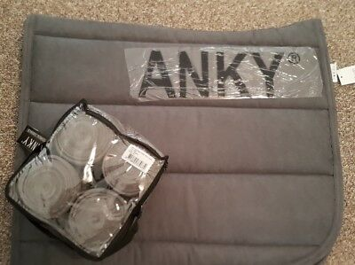 ANKY Graphite Saddle Pad + Bandage Set - BRAND NEW WITH TAGS