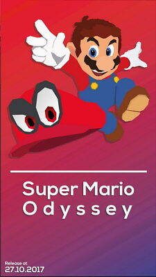 "008 Super Mario Odyssey - Action Adventure Game 24""x42"" Poster"