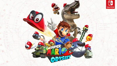 "007 Super Mario Odyssey - Action Adventure Game 42""x24"" Poster"