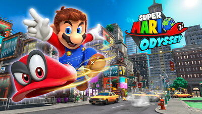"015 Super Mario Odyssey - Action Adventure Game 42""x24"" Poster"
