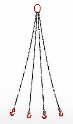 4 CHAIN SLING 1.2MM  - 10CM / RED  / 1:50 Scale By YCC 308-R