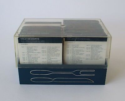 Vintage Retro 60s RECIPE CARD LIBRARY/INDEX/SET Marguerite Patten IN BOX