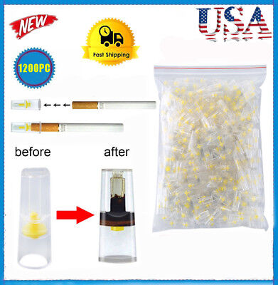 EFFICIENT Bulk Cigarette Filter Tips Block, Filter Out Tar & Nic(1200Filters) HT