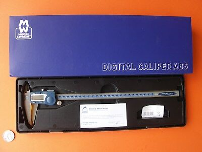 """DIGITAL CALIPER 300mm  12"""" MOORE & WRIGHT WATER RESISTANT MW-110-30DABS ABS """"0"""""""
