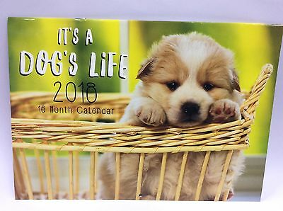 2018 dogs life 16 month calender