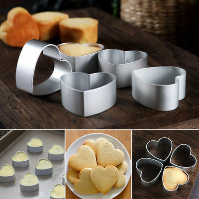 Heart Shape Aluminum Metal Biscuit Cookie Cutter Cake Decor Baking Mould Tools