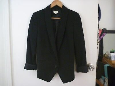 Witchery ladies jacket size 10 black 100% wool pre-owned great condition