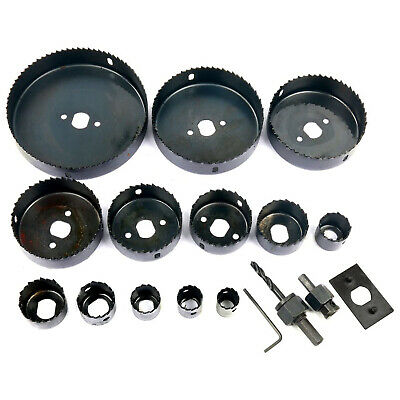 16 Hole Steel Saw Kit Metal Circle Cutter Round Drill Bits Wood Alloy Downlights