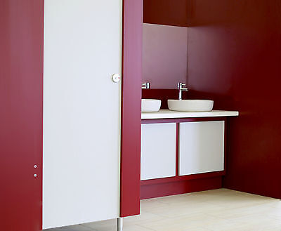 Toilet Cubicle with fittings and side panel choice of colours inc VAT