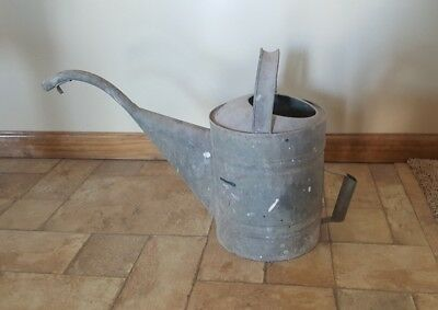 Vintage Large Galvanized Watering Can Garden Very Nice