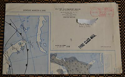 Military Air Transport Service United States Air Force USA Map 1956