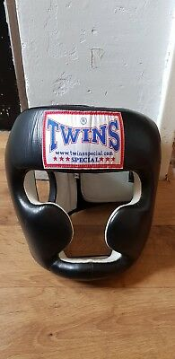 Twins Special Muay Thai Boxing Full Face Close Head Gear Guard HGL-3