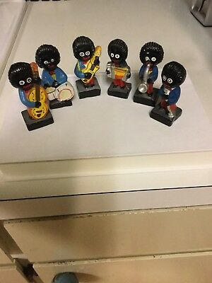 6 Black Americana Lead Band Members Hand Painted Figurines Foreign