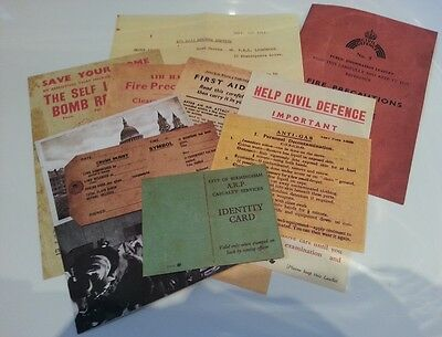11 Blitz Leaflets / Postcards The Blitz World War II 1939-1945 Home Front