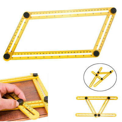 Folding Measuring Instrument Angle-izer Template Tool Four Sided Ruler DIY Tool