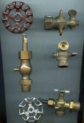 4 vintage small Brass valves petcock blow off steampunk