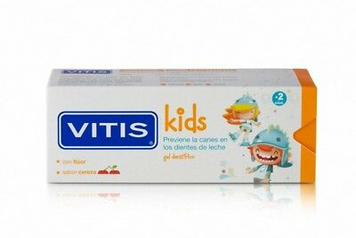 VITIS KIDS GEL DENTÍFRICO +2AÑOS SABOR CEREZA CON FLÚOR 50ml 184769