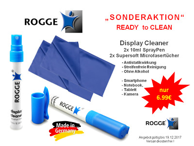 SONDERAKTION - ROGGE Screen Cleaner für Smartphone, Tablett, Notebook, Optik...