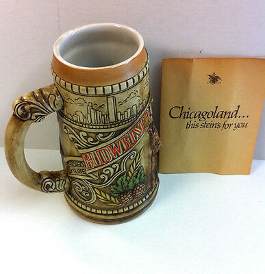 1980 Anheuser Busch Budweiser Chicagoland Limited Edition Stein..CS40..Numbered