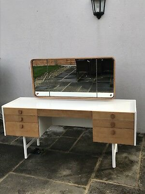Mid century Oak desk / dressing table by Meredew furniture.