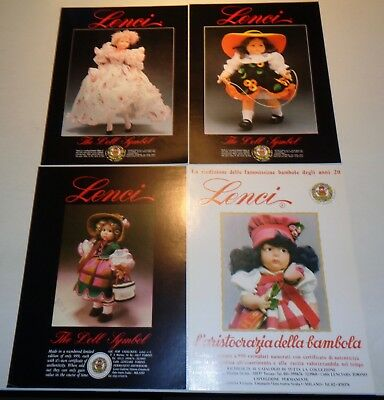Press papers sheets about limited edition Italian Lenci dolls puppen