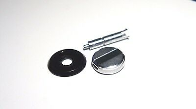 GENUINE Canon AE-1 Film Rewind Knob with cover, lock ring and spindle shaft.