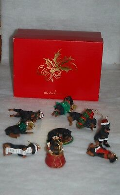Danbury Mint Rottweiler Christmas Ornaments