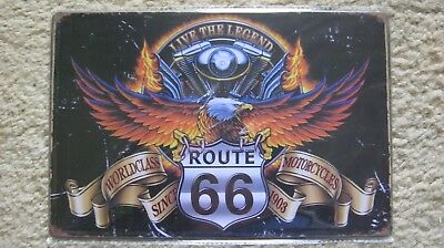 Garage Wall Decor Poster Metal tin SIGN (LIVE THE LEGEND ROUTE 66 SINCE 1903)