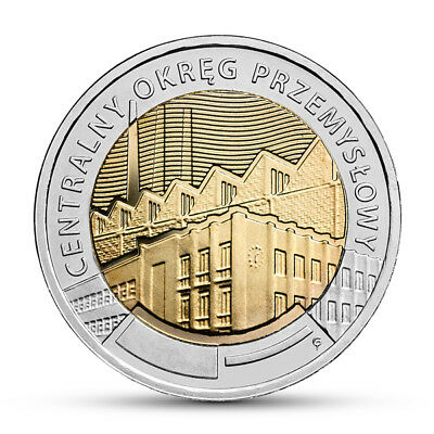 """POLAND 5zl 2017  """"Central Industrial District"""" *Discover Poland* Issued at 15/11"""