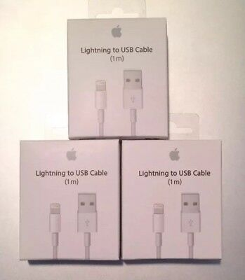3 PACK - OEM Original Lightning USB Charger Cable For Apple iPhone 6 6s 7 Plus