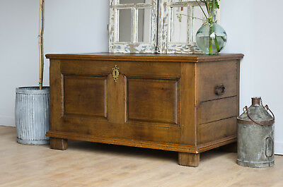 Antique 19th Century French Oak Coffer / Trunk
