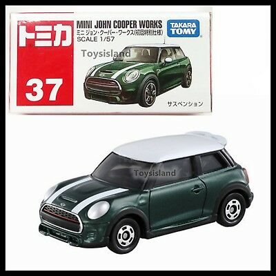 TOMICA #37 MINI JOHN COOPER WORKS 1/57 TOMY 2017 NOV NEW First edition GREEN