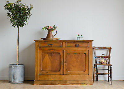 French Antique 19th Century Elm Linen Pantry Larder Cupboard Cabinet Sideboard