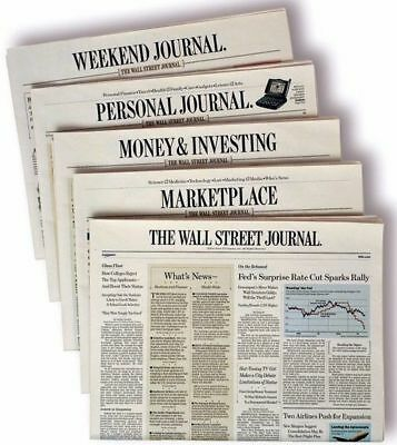 Wall Street Journal Subscription WSJ 1 Year Print Only Mon-Sat Starts in 5 Days
