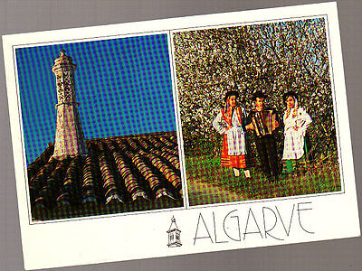Vintage Postcard Portugal, Traditional Dress, Algarve