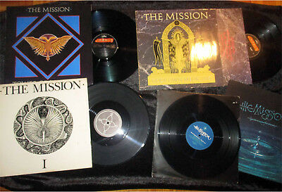 """The Mission  12"""" Vinyl-Sammlung (4St.)Hands Across The Ocean Numbered Limited"""