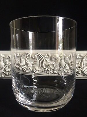 """Waterford Vintage Hand Blown Double Old Fashioned Rock 4 1/8"""" Glass Smooth"""