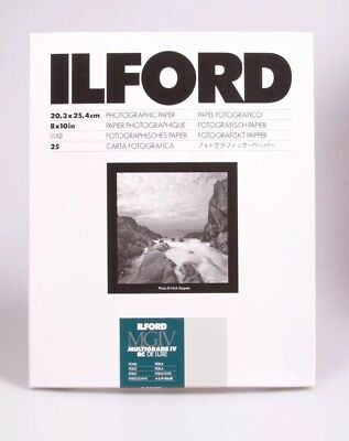 4 Pack Ilford MG RC Deluxe Paper Pearl 25 Sheets 8x10 - 100 Total Pages