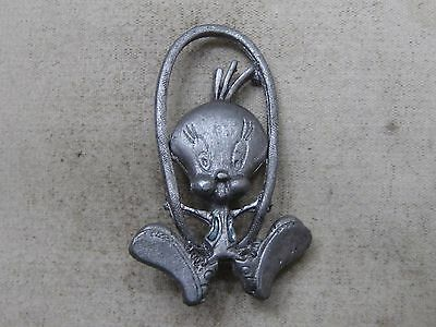 Vintage Tweety Bird Pewter Lapel Pin