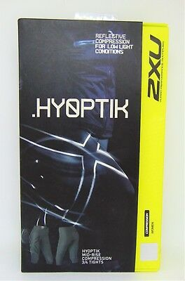 2XU Women's Mid‑Rise Compression 3/4 Tights STL/BLK REFLECTIVE  Large