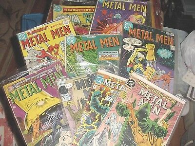 Lot Of 9 Metal Men Comics Old Into New!