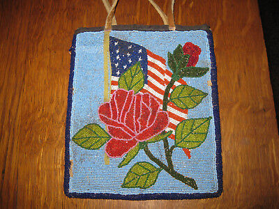 Doubled Sided Plateau Flat Bag with US Flag