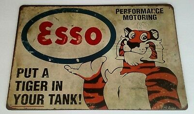 Esso Put a Tiger in Your Tank, Metal Tin Sign, 8x12 New